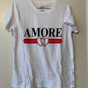 *WORN ONCE* White Amore T-Shirt